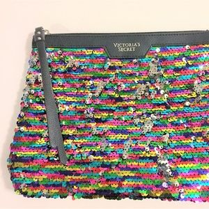 Victoria's Secret Sequined clutch cosmetic bag